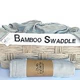 Premium Single Muslin Swaddle Baby Blanket 100% Bamboo by Lolly Llama - ...
